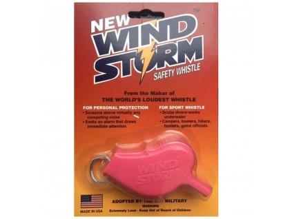 Píšťalka WINDSTORM™ plastová RŮŽOVÁ