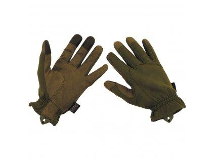 Rukavice prstové lehké ZELENÉ