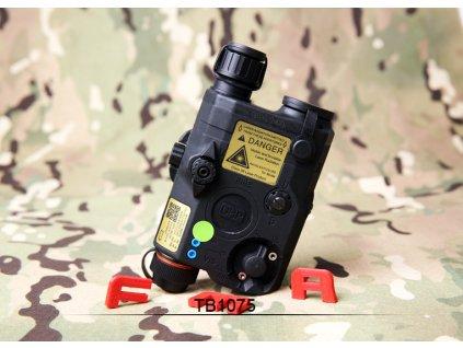 AN/PEQ15 LA5-C - bílá LED svítilna plus zelený laser s IR krytkami plus IR přísvit, černý