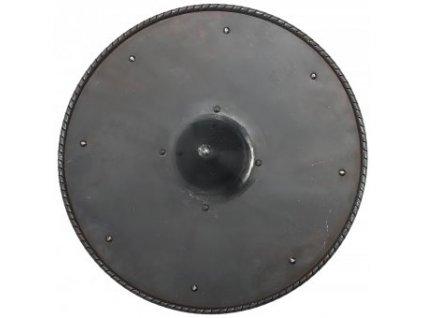 Kulatý železný štít s hrotem ve středu 48cm