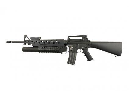 M16A3 plus plynový granátomet M203 (SA-G02 ONE(TM)) - černá