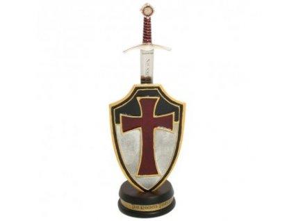 Nůž na dopisy - Obřadní templářský meč Accolade