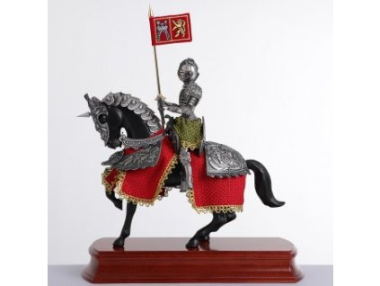 Soška Španělský rytíř ve zbroji na koni