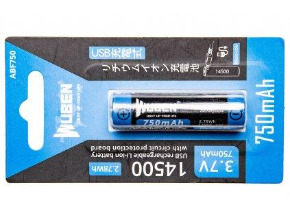 Baterie Wuben 14500B Li-Ion 750mAh
