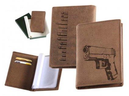 Kožené pouzdro na doklady pistole Glock