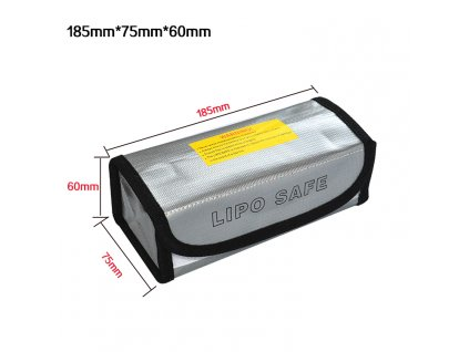 Ochranný vak/box 60x75x185mm z nehořlavého materiálu pro Li-pol