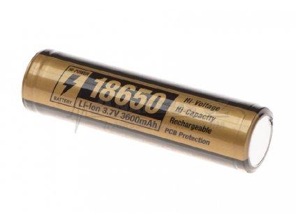 Dobíjecí baterie 3,7V 18650 3600 mAh
