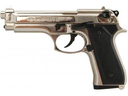 Plynová pistole Bruni 92 nikl cal.9mm