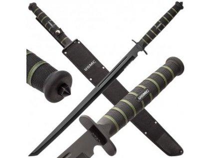 Bojový tanto meč USMC Blackout s pochvou