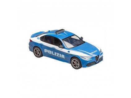 RE.EL Toys Alfa Romeo Giulia Quadrifoglio Policie, licence 1:14, LED  + Voucher na další nákup