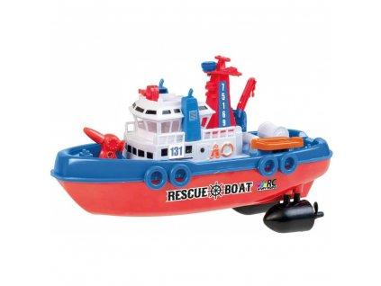 Záchranářská loď RESCUE BOAT 131, 27 MHz, plnohodnotné RC ovládání, pohyblivé části  + Voucher na další nákup