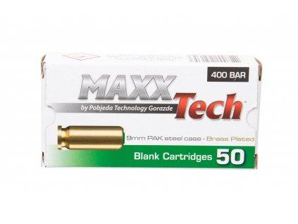 Startovací náboje MAXX Tech 9mm pistole 50ks