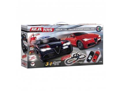 Autodráha Re.el toys 3v1 Alfa Romeo Giulia Quadrifoglio 6m  + Voucher na další nákup