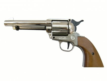 Plynový revolver Bruni Single Action 6RD 380 nikl cal.9mm