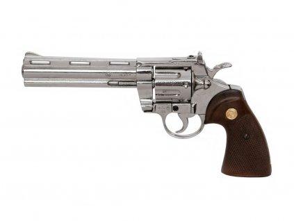 Revolver Python 357 Magnum - 6 palců metal look