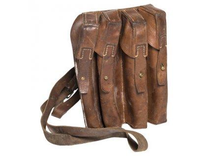 Sumka kožená srbská na 4 zásobníky použitá