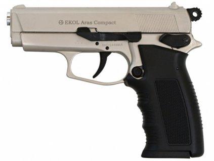 Plynová pistole Ekol Aras Compact satén nikl cal.9mm