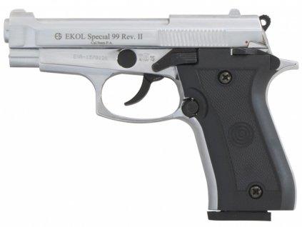 Plynová pistole Ekol Special 99 REV II chrom cal.9mm
