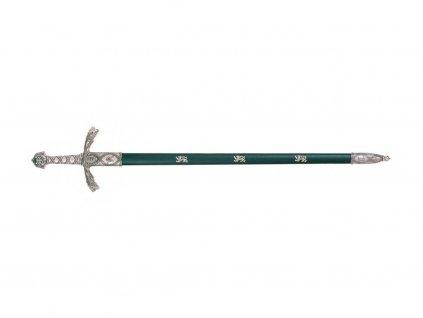 Meč Richarda Lví Srdce 12. stol. s pochvou (nikl)