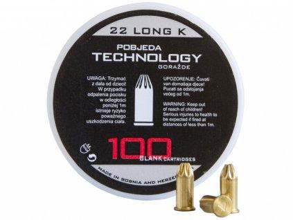 Startovací náboje Pobjeda 6mm Long 100ks