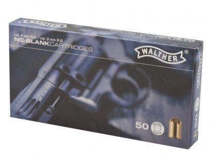 Startovací náboje Walther 9mm revolver 50ks