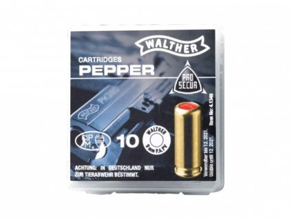 Plynové náboje PV-S 9mm pistole 10ks Supra Pepper Walther
