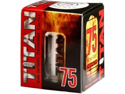 Startovací náboje 9mm pistole 75ks Perfecta Titan