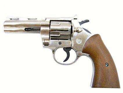 Plynový revolver Bruni Magnum 380 Python nikl cal.9mm