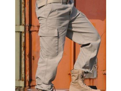 Kalhoty BW typ moleskin předeprané KHAKI