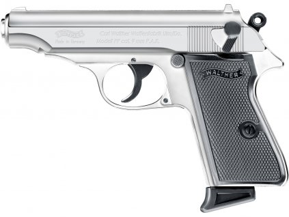 Plynová pistole Walther PP chrom cal.9mm