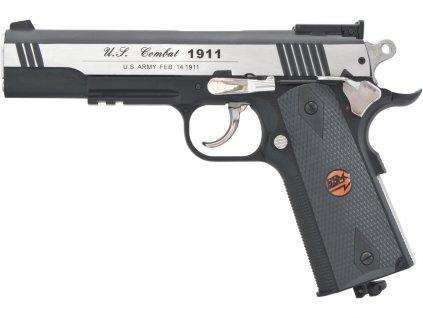 Vzduchová pistole Bruni US Combat 1911 M stříbrná