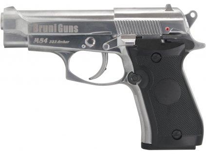 Vzduchová pistole Bruni M84 323 Archer chrom  + Voucher na další nákup