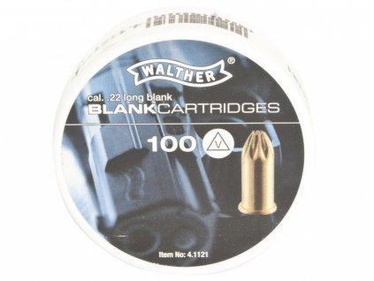 Startovací náboje 6mm Long revolver 100ks Walther