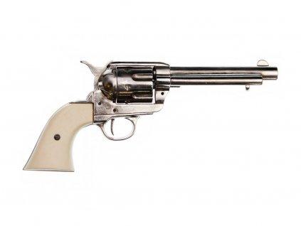 """Revolver cal.45 PEACEMAKER 5 1/2 """", USA 1873 (nikl)  + Voucher na další nákup"""