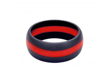 Prsten silikonový ČERVENÁ linka