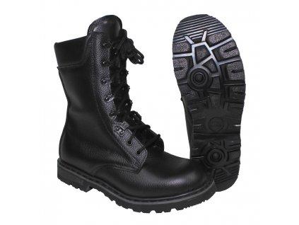 Boty holandské bojové kožené ČERNÉ