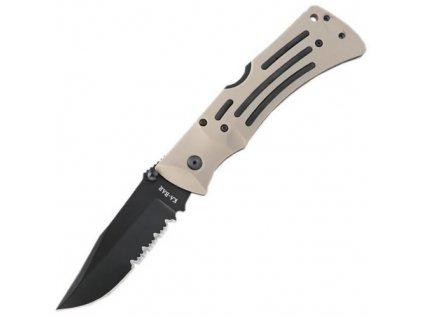 Nůž zavírací MULE FOLDER ozubený KHAKI