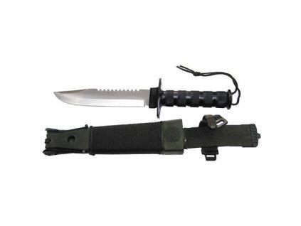 Nůž na přežití JUNGLE II s výbavou ČERNÝ  + Voucher na další nákup