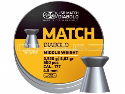 Diabolo JSB Match pro pušku 4,52mm 500ks