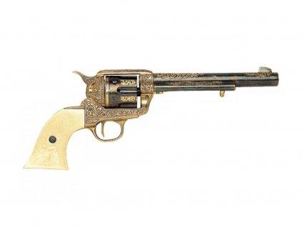 Revolver cal.45 Americké kavalerie - USA 1873 (rytý s imitací slonoviny)