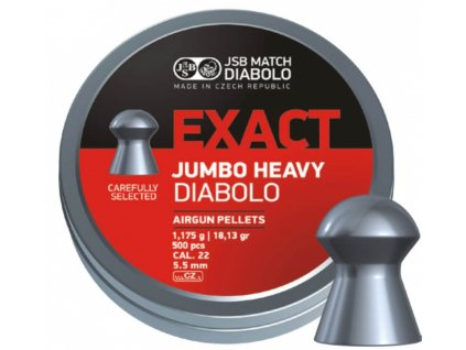 Diabolo JSB Exact Jumbo Heavy 5,52mm 500ks