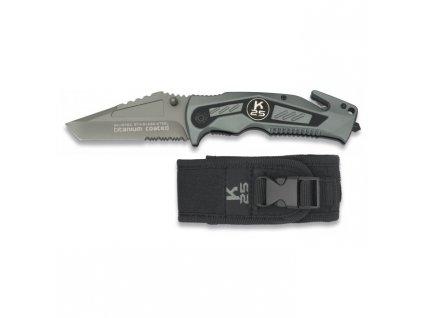 Nůž zavírací K25 19762 záchranář ŠEDÝ