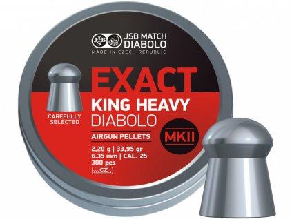 Diabolo JSB Exact King Heavy MKII 6,35mm 300ks