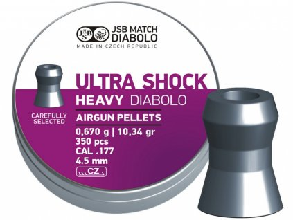 Diabolo JSB Ultra Shock Heavy 4,50mm 350ks