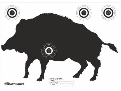Terč silueta Beast Hunter Boar 10ks
