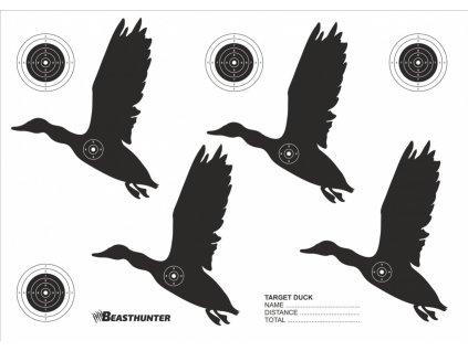 Terč silueta Beast Hunter Duck 10ks