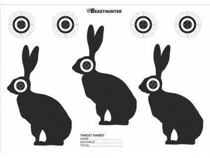 Terč silueta Beast Hunter Rabbit 10ks