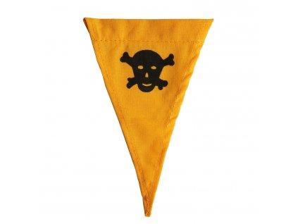 Vlaječka s lebkou pro označování zamořeno nebo minového pole