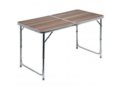 Stůl skládací kempingový - deska umakart imitace dřeva