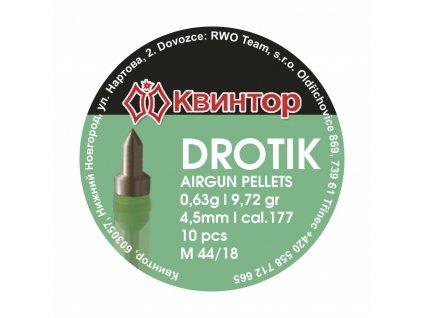 Diabolo Kvintor Drotik cal.4,5mm 10ks